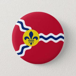 Flag of St. Louis, Missouri 2 Inch Round Button