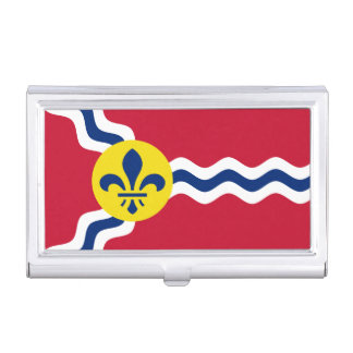Flag of St. Louis, Missouri Business Card Holder