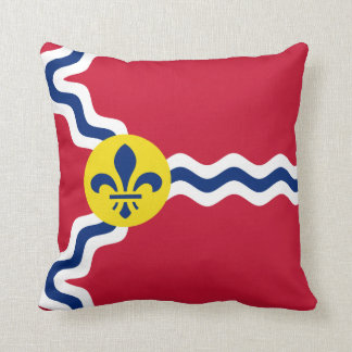 Flag of St. Louis, Missouri Throw Pillow