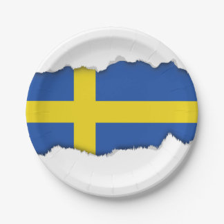 Flag of Sweden 7 Inch Paper Plate
