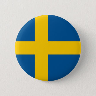 Flag of Sweden Button