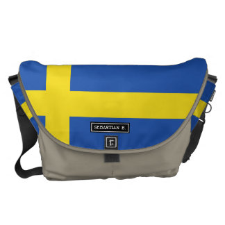 Flag of Sweden Courier Bags