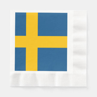 Flag of Sweden Disposable Napkins
