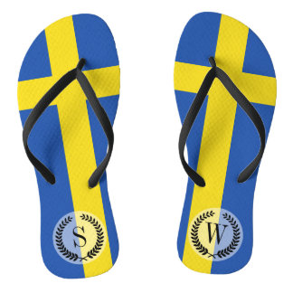 Flag of Sweden Flip Flops