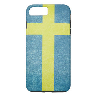 Flag of Sweden Grunge iPhone 7 Plus Case