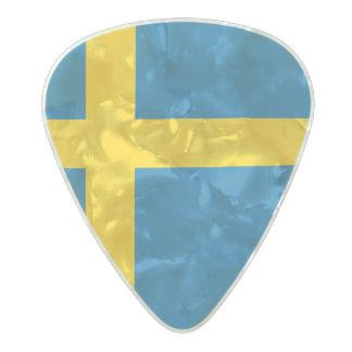 Flag of Sweden Guitar Picks Pearl Celluloid Guitar Pick