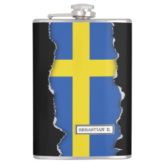 Flag of Sweden Hip Flask