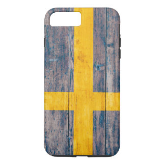 Flag of Sweden on Wood iPhone 7 Plus Case