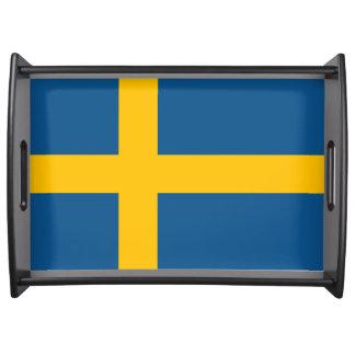 Flag of Sweden Serving Tray