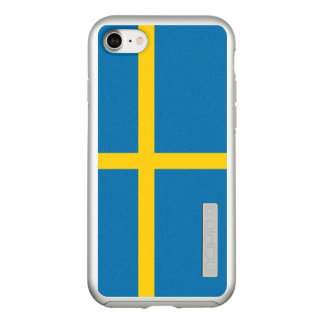 Flag of Sweden Silver iPhone Case