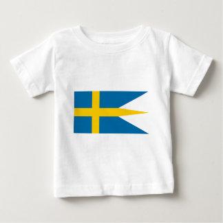 Flag of Sweden - Sveriges flagga - Swedish Flag Baby T-Shirt