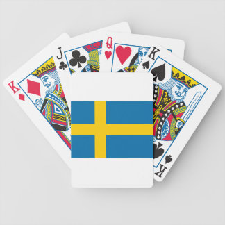 Flag of Sweden - Sveriges flagga - Swedish Flag Bicycle Playing Cards