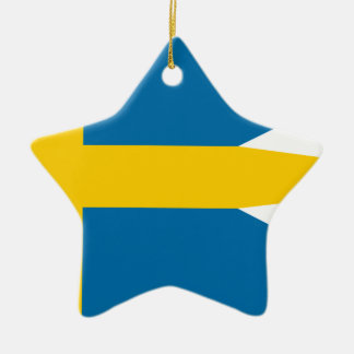 Flag of Sweden - Sveriges flagga - Swedish Flag Ceramic Ornament