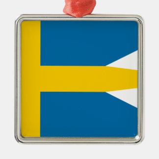 Flag of Sweden - Sveriges flagga - Swedish Flag Metal Ornament