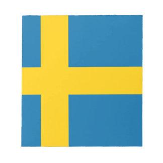 Flag of Sweden - Sveriges flagga - Swedish Flag Notepad