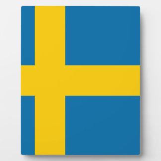 Flag of Sweden - Sveriges flagga - Swedish Flag Plaque