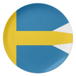 Flag of Sweden - Sveriges flagga - Swedish Flag Plate