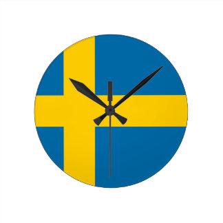 Flag of Sweden - Sveriges flagga - Swedish Flag Round Clock