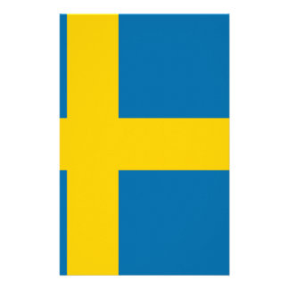 Flag of Sweden - Sveriges flagga - Swedish Flag Stationery