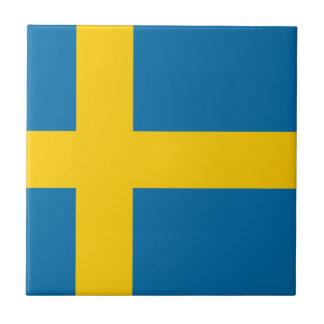 Flag of Sweden - Sveriges flagga - Swedish Flag Tile