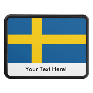Flag of Sweden Tow Hitch Cover