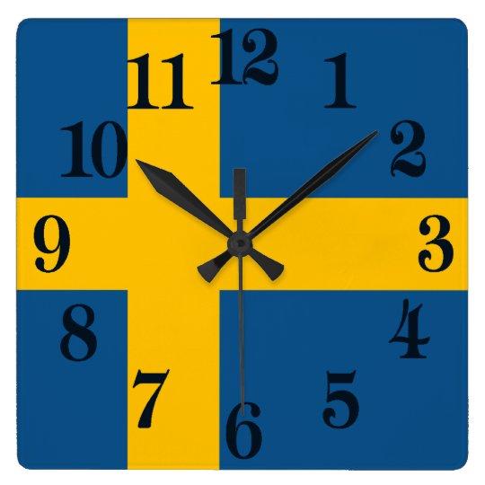 Flag of Sweden Wall Clocks