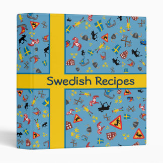 Flag of Sweden with culture icons binder