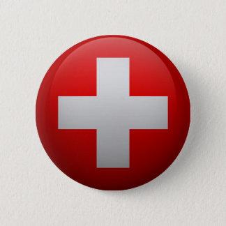 Flag of Switzerland 2 Inch Round Button