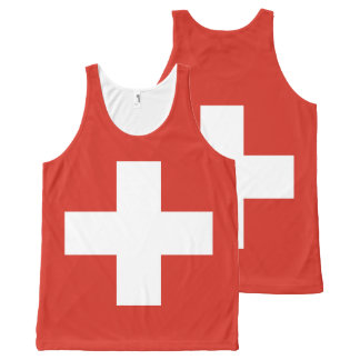 Flag of Switzerland All-Over-Print Tank Top