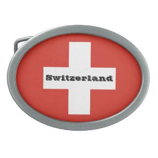Flag of Switzerland Belt Buckle