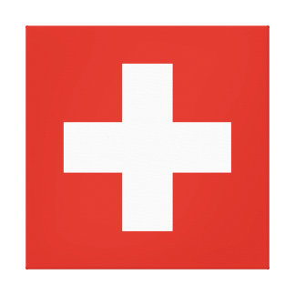 Flag of Switzerland Canvas Print