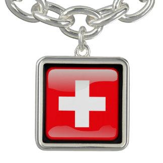 Flag of Switzerland Charm Bracelets