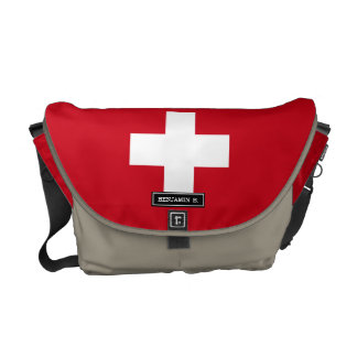 Flag of Switzerland Courier Bags