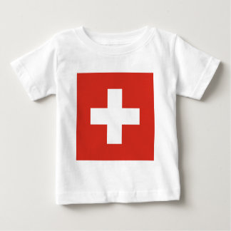 Flag of Switzerland - Die Nationalflagge der Schwe Baby T-Shirt