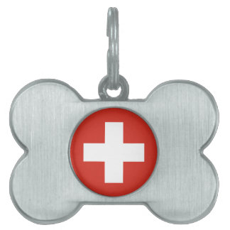 Flag of Switzerland - Die Nationalflagge der Schwe Pet Name Tag