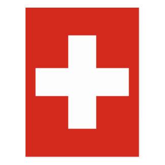 Flag of Switzerland - Die Nationalflagge der Schwe Postcard