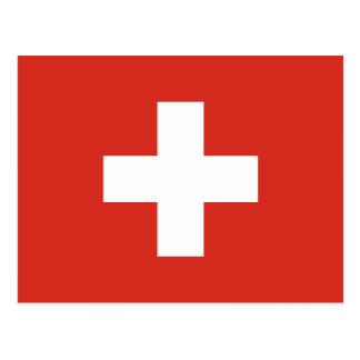 Flag of Switzerland Die Nationalflagge der Schweiz Postcard