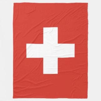 Flag of Switzerland Fleece Blanket