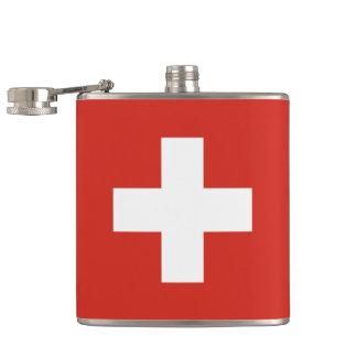 Flag of Switzerland Hip Flask