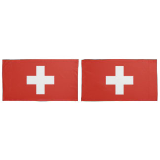 Flag of Switzerland king Pillowcase