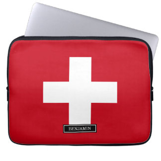 Flag of Switzerland Laptop Sleeve