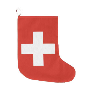 Flag of Switzerland Large Christmas Stocking