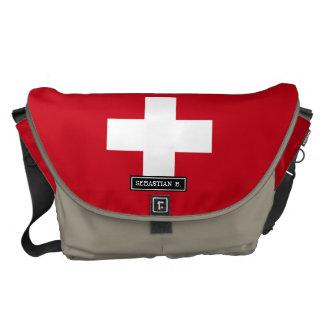 Flag of Switzerland Messenger Bags