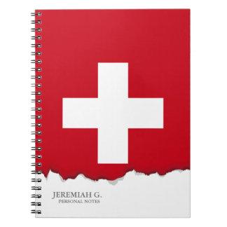 Flag of Switzerland Note Book