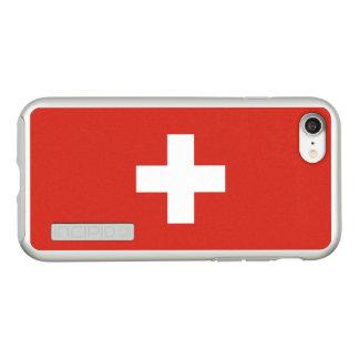 Flag of Switzerland Silver iPhone Case
