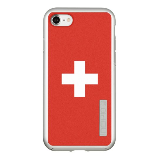 Flag of Switzerland Silver iPhone Case