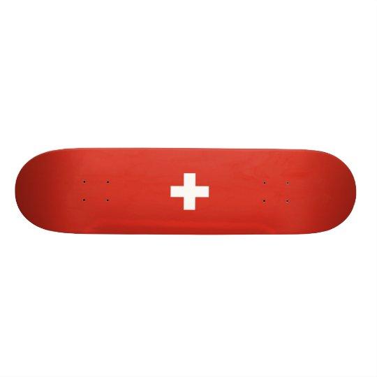 Flag of Switzerland Skateboard Deck