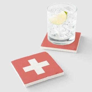 Flag of Switzerland Stone Coaster