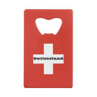 Flag of Switzerland Wallet Bottle Opener