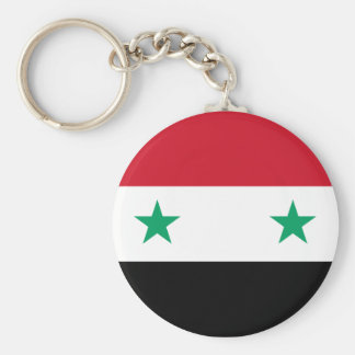 Flag of Syria Basic Round Button Keychain